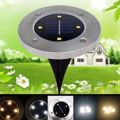 4pcs Disk Lights Solar Ed Led Path As Seen On Tv Ground