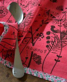 Pano de Prato Love Garden Pink