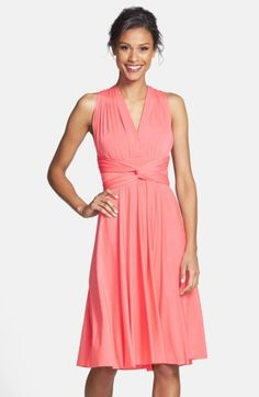 Women's Dessy Collection Convertible Wrap Tie Surplice Jersey Dress