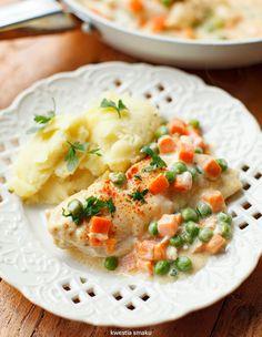 Filety z kurczaka z marchewką i groszkiem Polish Recipes, Risotto, Cooking, Ethnic Recipes, Food, Kitchen, Polish Food Recipes, Essen, Meals