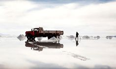 """""""The salt desert of Uyuni in Bolivia, which contains the world's largest lithium reserves.""""    Editors' Pick from Smithsonian.com's 10th Annual Photo Contest. Photo of the Day: September 22, 2012. Photo by Javier Arcenillas."""