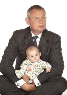 Martin Clunes as Doc Martin (& baby)
