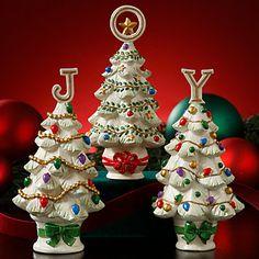 LENOX Figurines: Christmas - Christmas Joy 3-piece Tree Figurine Set