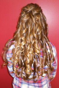 Down, flowing curls.