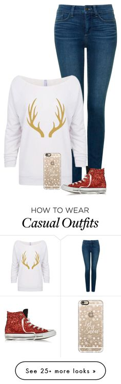 """""""Casual Christmas Look. -Grace"""" by isongirls on Polyvore featuring NYDJ, Converse, Casetify, dressingfortheholidays and graceisonwouldwear"""