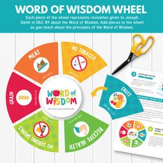 Word of Wisdom Wheel - LOVE this fun activity to teach Primary children about the Word of Wisdom! (Primary Sharing Time June 2017)