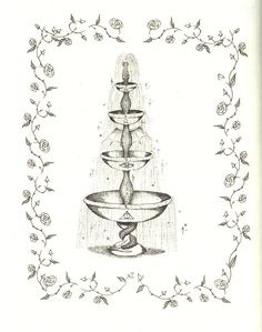 The Fountain of Fair Fortune, drawing by JK Rowling Always Harry Potter, Harry Potter Tattoos, Harry Potter Fan Art, Harry Potter Movies, Fanfiction, Deathly Hallows Part 2, Magic Tattoo, Wattpad, Body Mods