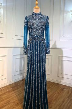Evening Dresses, Prom Dresses, Formal Dresses, Make Color, Color Box, Beaded Prom Dress, Special Occasion Dresses, Clothes For Women, Long Sleeve