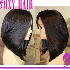 Online Shop Short bob brazilian yaki full lace virgin hair wigs with natural hairline glueless full lace human hair bob wigs for black women|Aliexpress Mobile