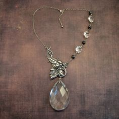 Vintage Chandelier Crystal Necklaces Pinterest Crystal Necklace - Upcycled chandelier crystals