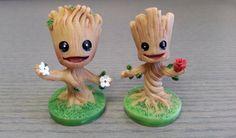 Pequeño bebé Groot miniatura figurita - guardianes de la galaxia inspirada - resina