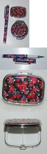 Mixed Items and Lots 15738: Pretty Tools 3 Set Ball Point Pen Pill Box Mirror Compact Black Floral -> BUY IT NOW ONLY: $33.95 on eBay!