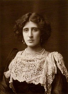 Lady Ottoline Morrell by Henry Walter Barnett (1902). English aristocrat and society hostess. Her patronage was influential in artistic and intellectual circles, where she befriended writers including Aldous Huxley, Siegfried Sassoon, T. S. Eliot and D. H. Lawrence, and artists including Mark Gertler, Dora Carrington and Gilbert Spencer.