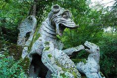 Lazio Sacro Bosco (Gardens of Bomarzo) - A petrified dragon