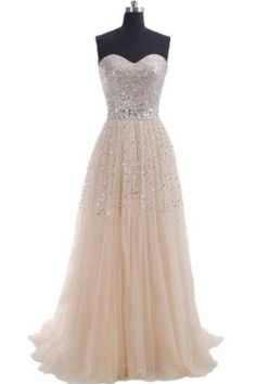 48b5d6b4cf94 Amazon.com  Hi Girls Exquisite Sweetheart Tulle Long Prom Dresses 2015  Party Gowns  Clothing