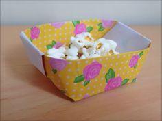 折り紙の入れ物(箱)の簡単な折り方、作り方を紹介します。 子供でも簡単に折り紙で入れ物を折ることができます。