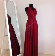 Items similar to Maxi Dress Wedding Dress Wrap Convertible Dress Bridesmaid Dress Infinity Dark Red plus size maternity ORCHIDEA on Etsy Wrap Wedding Dress, Wedding Bridesmaid Dresses, Wedding Gowns, Infinity Dress Tutorial, Maternity Evening Gowns, Evening Dresses, Nice Dresses, Formal Dresses, Wrap Dresses