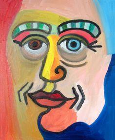 """""""Self-portrait à la Picasso"""", oil on canvas, 40 x 50 cm"""