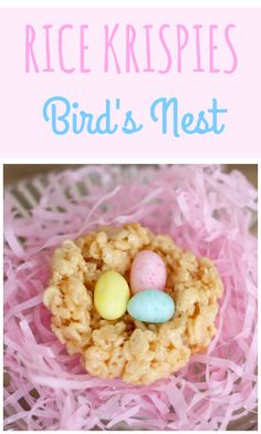 Rice Krispies bird's nests for Easter - Savvy Sassy Moms Easter Candy, Easter Treats, Baking With Kids, Coloring Easter Eggs, Easter Celebration, Easter Brunch, Party Desserts, Nests, Jelly Beans