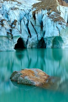 Angel Glacier Reflection