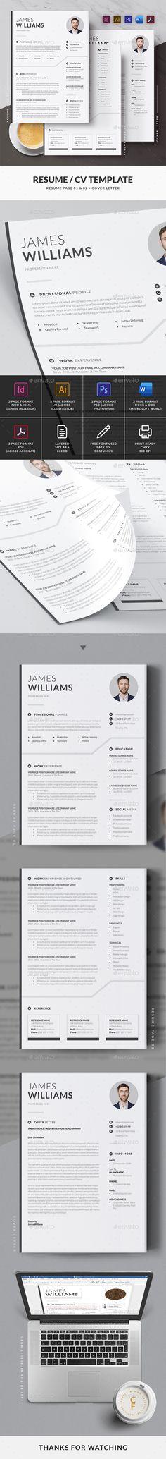 Simple Resume / CV Template Cv Design, Free Design, Cv Template, Templates, Simple Resume, Change Image, Resume Cv, Very Well, Photoshop