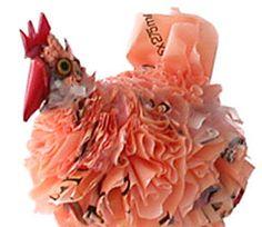 Huhn aus Plastiktüten (aus Johannesburg, Südafrika)