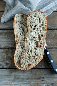 Ciabattine semintegrali con grano saraceno a lievitazione mista