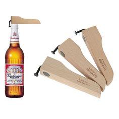 Wooden Beer Opener With Cap Magnet