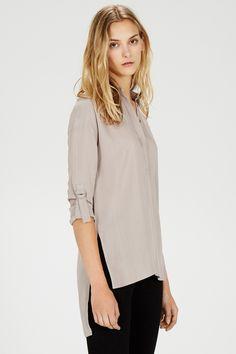 Shirts & Blouses | Grey Split Side Tunic | Warehouse