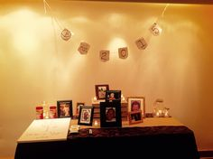 A memorial table is a beautiful way to honor loved ones on your special day