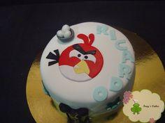 FROG´S CAKES... REPOSTERIA DECORADA, TARTAS FONDANT: ♥ tarta ANGRY ...