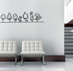 Arbolitos - Viste tu hogar con un detalle especial gracias a este vinilo decorativo tan elegante y evocador.
