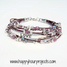 "Happy Hour Projects: Beaded ""Love"" Bracelet"