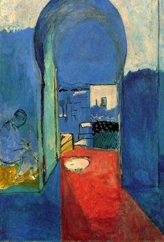 "Henri Matisse (1869 - 1954), 1912 - 1913, La Porte de la Casbah (""The Casbah Door""); Oil on canvas, 116 x 80 cm. (45 11/16 x 31 7/8 in); Pushkin State Museum, Moscow © Estate of Henri Matisse/ARS  (1,280 × 1,883 px)"