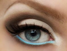 loving this! Different. Robin egg blue on your tear line