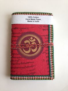 OM Chakra, Art Journal, Red Journal, Meditation Diary, Yoga Notebook, Pocket personal diary, spiritual notes, Blank Notebook,Sanskrit Mantra by IndianJournals on Etsy