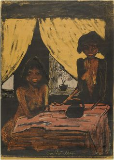 Otto Mueller, Two Gypsy Girls in Living Room