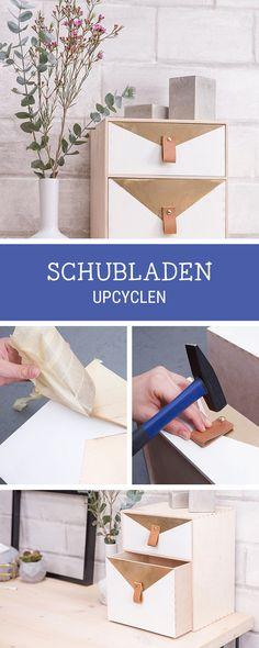 Einfaches Möbel-DIY: Schublade in ein Schreibtisch-Utensilo verwandeln / upcycling diy: turn a drawer into an utensilo for your workspace, storage idea via DaWanda.com