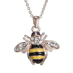 Swyss Bee Rose Gold Pendant Necklace Elements Crystal Necklaces for Women Jewelry Accessories New *** Sincerely hope that you actually like our image. (This is an affiliate link) Rose Gold Pendant, Gold Pendant Necklace, Rhinestone Necklace, Crystal Necklace, Pendant Jewelry, Crystal Pendant, Crystal Rhinestone, Necklace Chain, Fashion Necklace