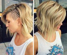 Blond Sidecut with Hair Tattoo
