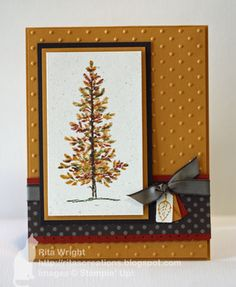 Lovely as a Tree set using the thumping method, in More Mustard and other fall colours - a fun application of this technique - thanks Rita!