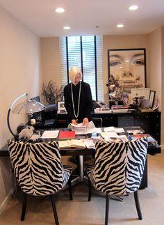 Linda Fargo's office at Bergdorf Goodman.