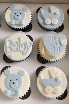 You have to see these adorable baby shower cupcakes! These cupcakes are perfect for any baby shower! Baby Shower Cupcakes For Boy, Baby Cupcake, Cupcakes For Boys, Fondant Baby, Baby Shower Desserts, Fondant Cupcakes, Baby Shower Cookies, Baby Boy Shower, Cupcake Cakes