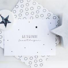 Gezegende Kerstdagen - Kerstkaart met sterren van Leesign