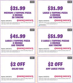 Past Chuck E. Cheese's Coupon Codes
