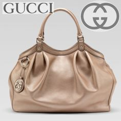 Gucci Leather Sukey Rose Gold⭐️Large⭐️ This bag is fabulous!! It is my go to bag. It has so much room, can be used as a everyday bag, diaper bag, even as a carry on or over night! No flaws and comes with dust-bag, card and tags. 100%authentic. Make a offer I can't refuse......I will sell! Posh will authenticate. Not in a hurry to see her go!                                                          💠GUCCI 'SOHO' HOBO/SHOULDER   💠BAG➡️BAG ONLY (GOOD CONDITION) Gucci Bags Shoulder Bags