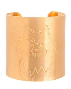 18k Gold-Plated Pomeranian Dog Cuff