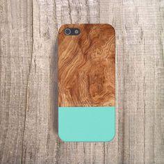 MINT iPhone 5 Case Holz Print iPhone5 Case Holz von casesbycsera, $19.99
