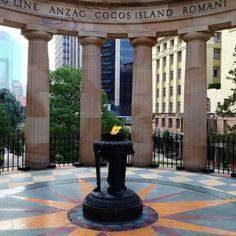 Anzac war memorial Brisbane Australia. Truly beautiful and humbling.
