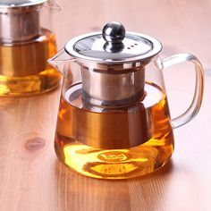 450ml stainless steel trapezoidal coffee glass tea pot,mini blooming chinese glass teapots,heat resistant glass tea pots infuser